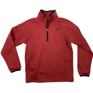 The North Face Boys Maroon 1/4th Zip Pullover